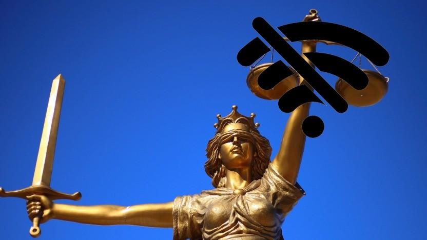 In Berliner Gerichten ist das Netzwerk beeinträchtigt.