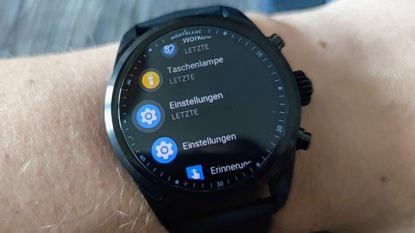 Eine Smartwatch mit Wear OS