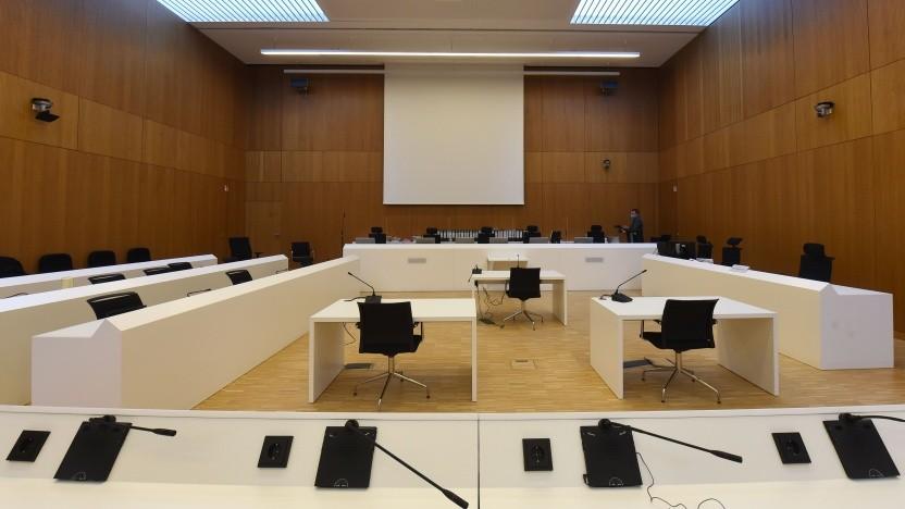 Ein Gerichtssaal des Landgerichts München