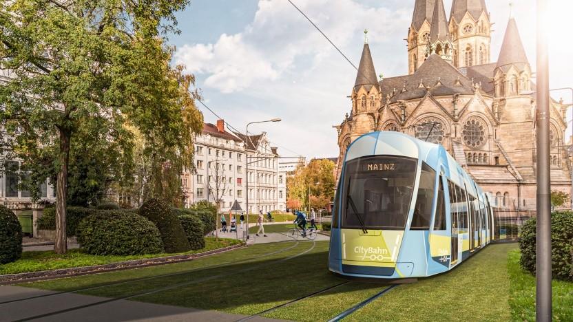 Von Wiesbaden nach Mainz kann man vielleicht bald mit der Tram fahren, aber nicht alle finden das gut.