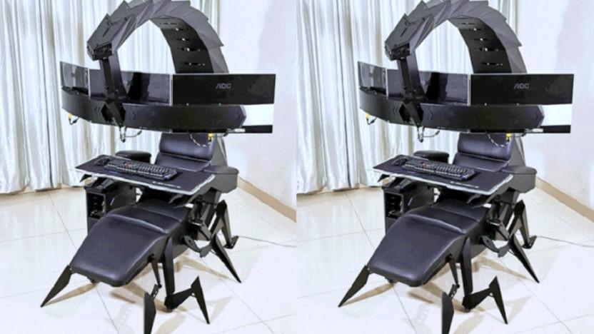 Der Cluvens-Sessel sieht aus wie ein Skorpion.