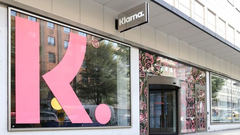 Eingang am Hauptsitz von Klarna