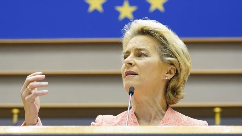 EU-Kommissionspräsidentin von der Leyen fordert mehr Anstrengungen bei Klimaschutz.