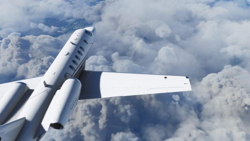 Viele Community-Mitglieder fliegen über den Wolken.