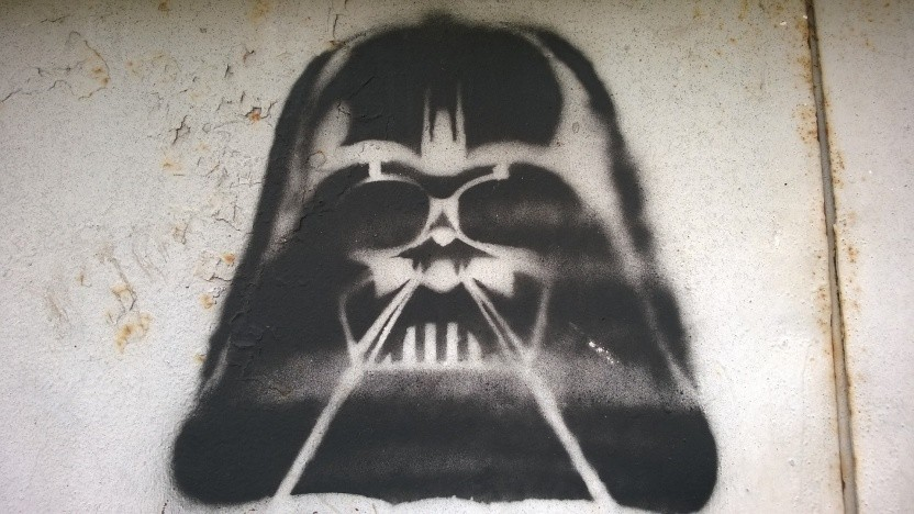 Ein Darth-Vader-Stencil
