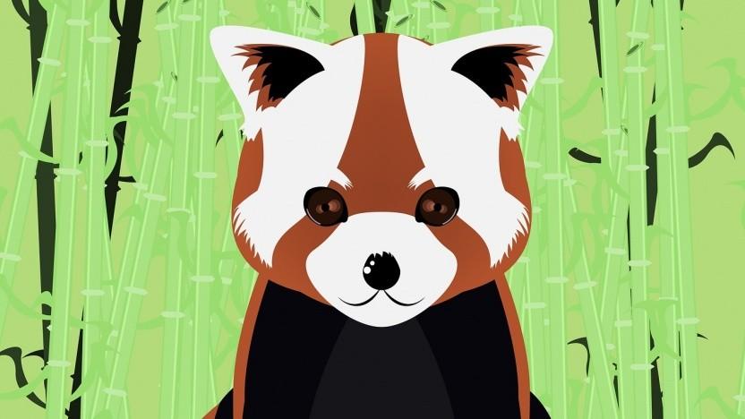 Ein roter Panda, das Maskottchen von Firefox