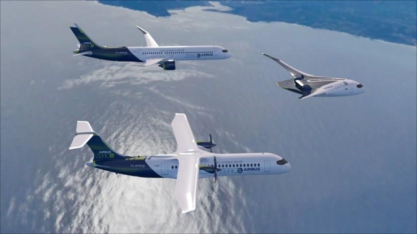 Drei Konzepte: Welches wird der erste Brennstoffzellen-Airbus?