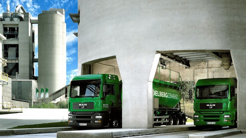 Zementverladung (Symbolbild): Abscheidungsanlage im Zementwerk von Heidelberg Cement