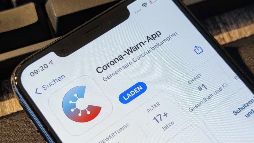 Die Corona-Warn-App auf einem iPhone