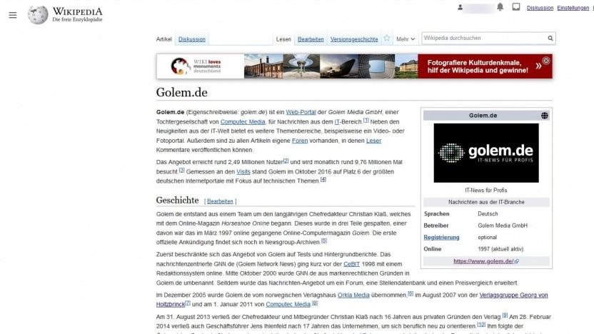 So kann das neue Layout der Wikipedia aussehen.