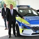 Hyundai Nexo: Wasserstoffauto als Polizeiwagen geeignet