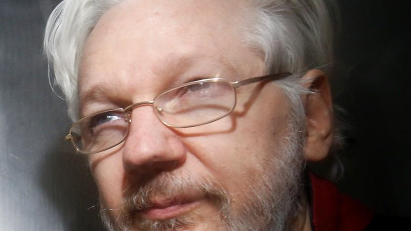 Julian Assange bei einem Gerichtstermin im Januar 2020