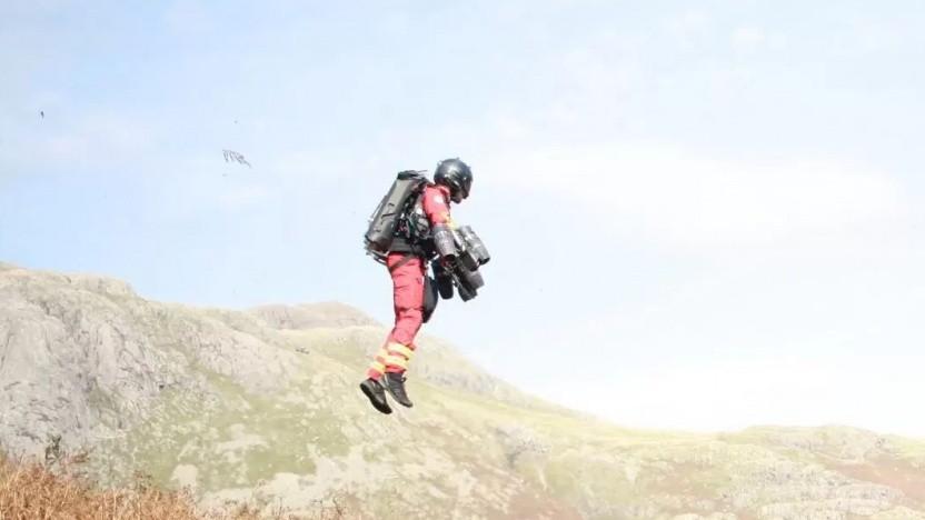 Vorführung des Jetpacks: vermisste Personen in wenigen Minuten gefunden