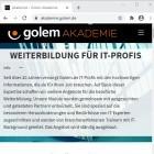 Anzeige: Web Development perfektionieren mit der Golem Akademie