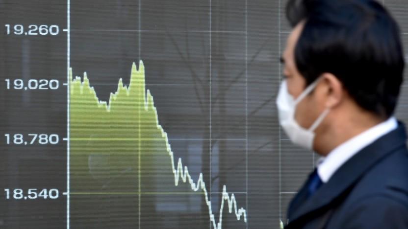 Display mit Preisen des Tokyo Stock Exchange
