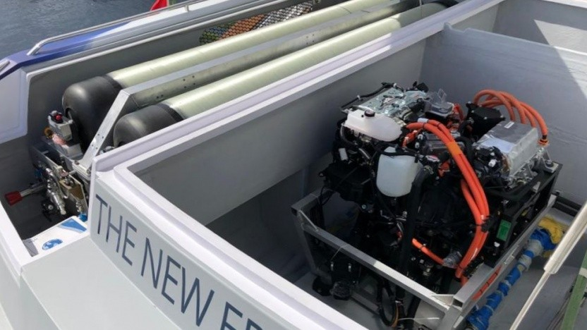 RexH2: Brennstofftzelle als Range Extender auf einem Boot