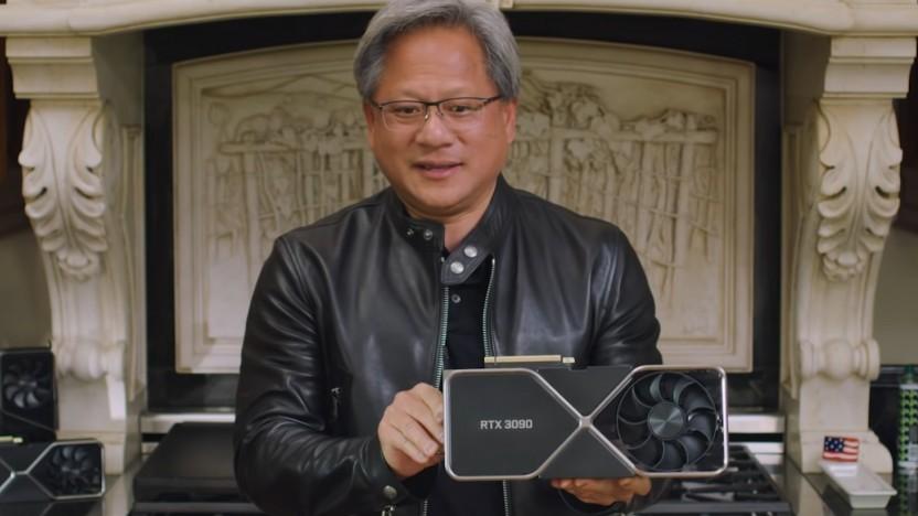 Nvidia-CEO Jensen Huang hält den Ampere-Launch für ein Phänomen.