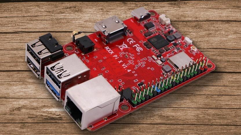 Der Rock Pi X sieht aus wie ein Raspberry Pi.