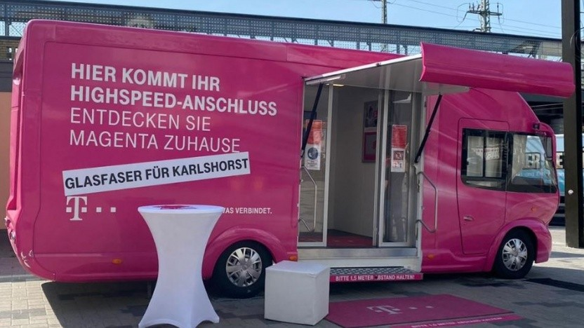 Die Telekom plant in Berlin Karlshorst einen Glasfaserausbau.