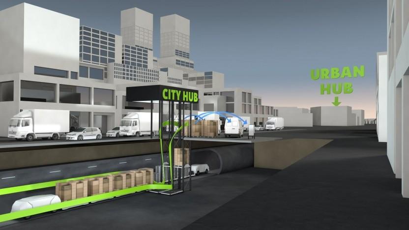 Smart City Loop: Transporte unter der Erde sind normal.