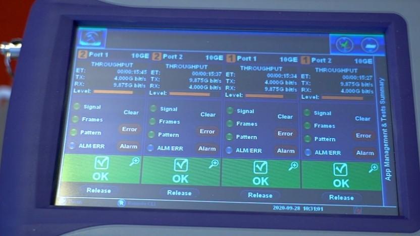 Das Setup für den Festnetzrekord von Huawei und Swisscom