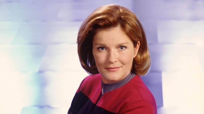 Kate Mulgrew in ihrer bekannten Rolle als Captain Janeway