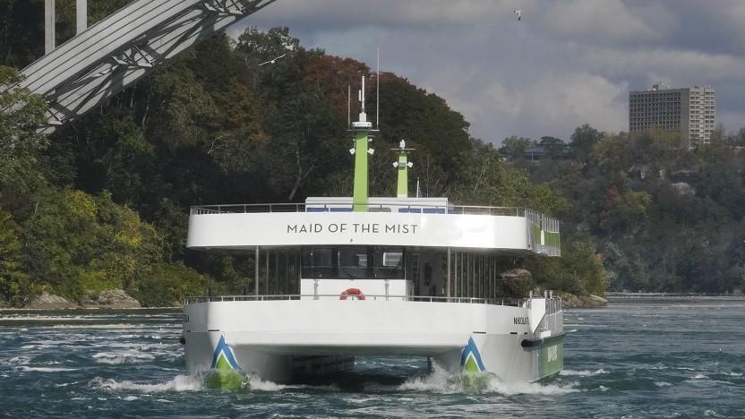 Elektroschiff auf dem Niagara River: gut für Gemeinden, Gesundheit und Klima