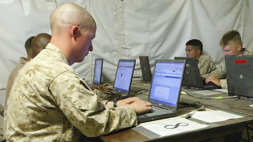 US-Soldaten im Cyberspace.
