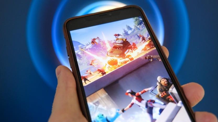 Artwork von Fortnite auf einem iPhone
