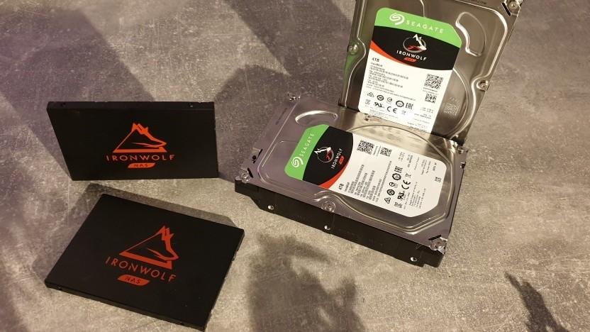 Seagate bietet sowohl HDDs als auch SSDs für den NAS-Bereich an.