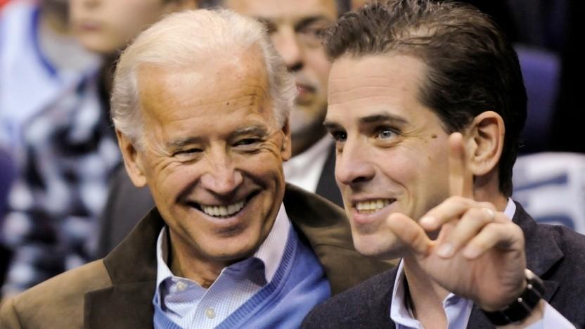 US-Präsidentschaftskandidat Joe Biden (l.) mit seinem Sohn Hunter