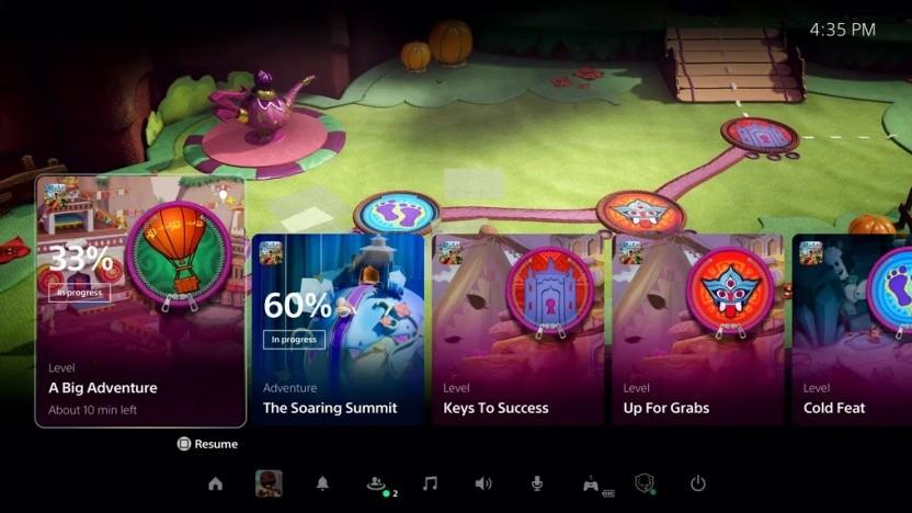 Artwork der PS5-Benutzeroberfläche