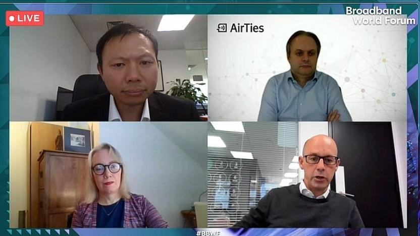 Daragh McDemott (rechts unten), Managing Director bei Jersey Telecom, spricht auf dem BBWF 2020.