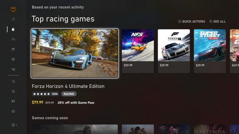 Benutzeroberfläche der Xbox (One und Series X/S)