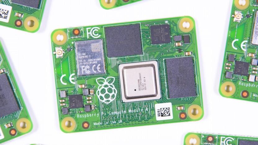 Das Compute Module 4 ist eine winzige Version des Raspberry Pi 4.