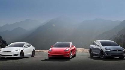 Model S, Model 3 und Model X