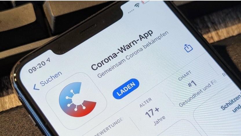 Die Corona-Warn-App in Apples App-Store