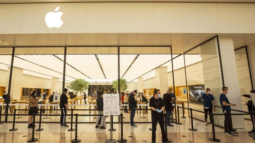 Apple Store in Australien beim iPhone-Start