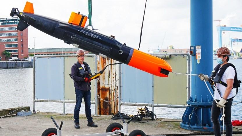 Autonomer Unterwasserroboter Seacat der WTD 71: genug Bedarf für eine robuste Kommunikation unter Wasser