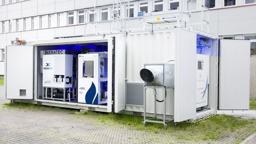 Eine Power-to-Liquid-Versuchsanlage beim Karlsruher Institut für Technologie (KIT)