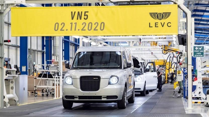 Hybridtransporter VN5: Frontpartie des Taxis