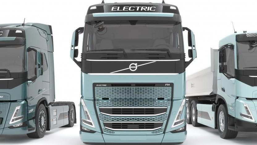 Elektrifizierte Volvo-Lkw