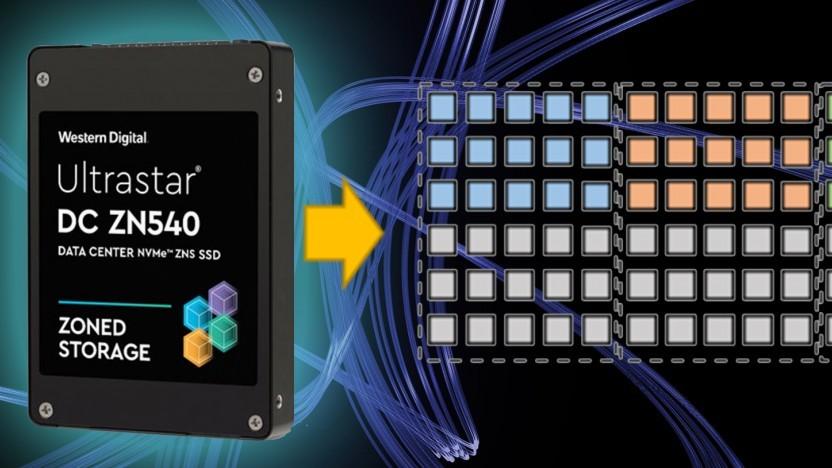Die Ultrastar DC ZN540 nutzt Zoned Namespaces zum Ablegen von Daten.