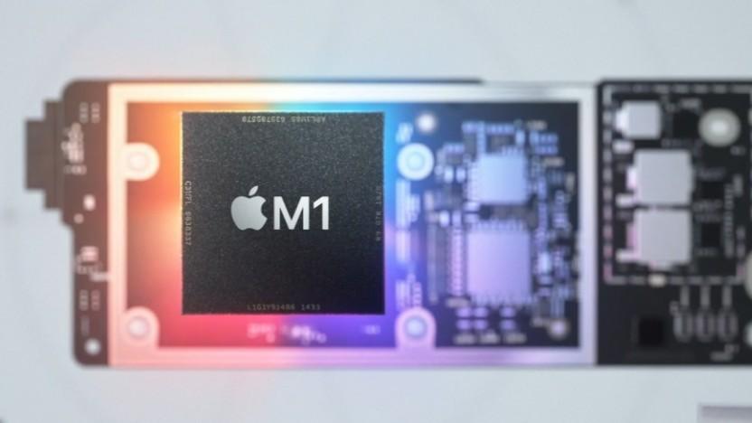 Der M1 auf einer Macbook-Platine