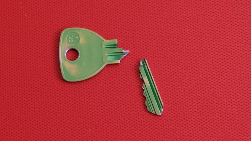 Ein gebrochener Schlüssel schließt nicht mehr richtig.