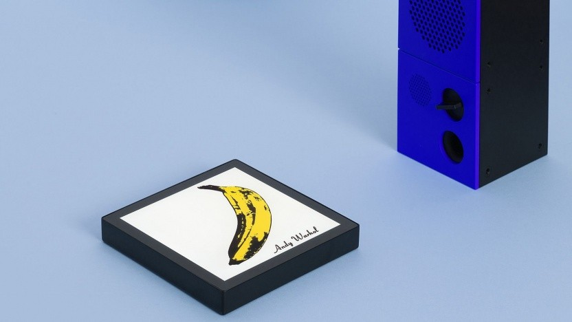 Musik-Player Sleevenote: Der Bildschirm ist größer als ein CD-Cover.