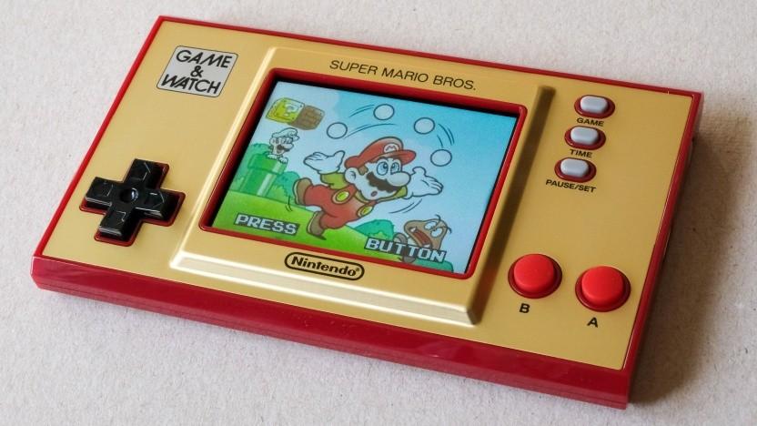 Der Startbildschirm des Game & Watch von Nintendo