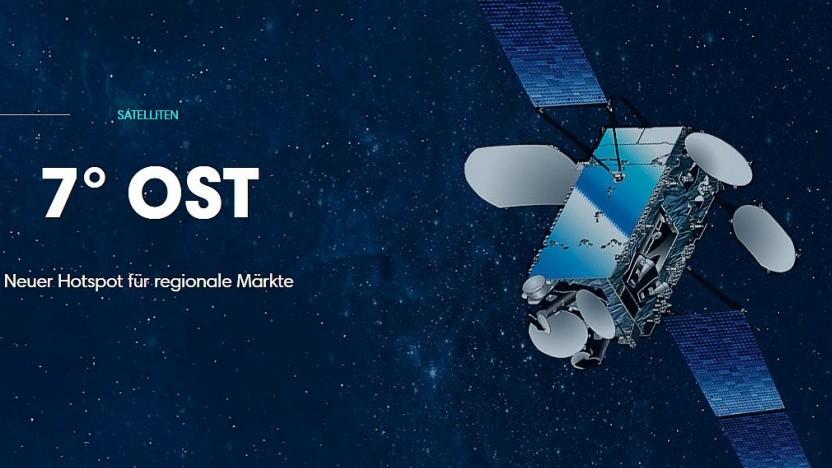 Satellit bei 7° Ost von VATM-Mitglied Eutelsat