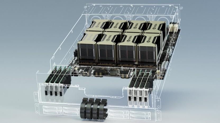 HGX-A100-Rack mit acht A100-Beschleunigern