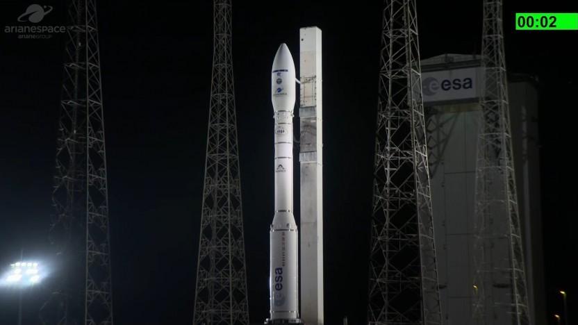 Die Vega-Rakete vor ihrem letzten Flug von 2020